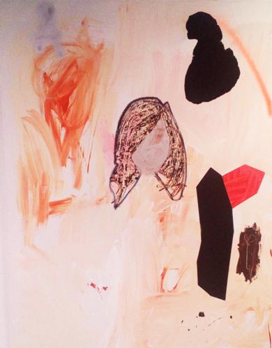 Girl and Other Things on Burnt Umber|PinturadeAlmudena  Blanco| Compra arte en Flecha.es