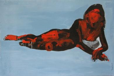 la silueta de Irma|PinturadeNader| Compra arte en Flecha.es