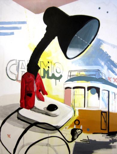 Recordando Lisboa|DibujodeAlejandra de la Torre| Compra arte en Flecha.es