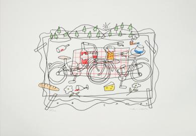 De campo|DibujodeFernando Bellver| Compra arte en Flecha.es