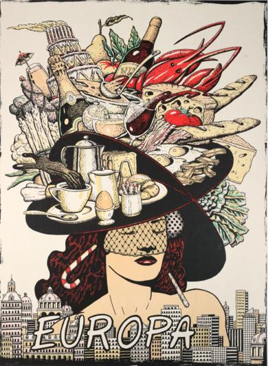 Serie Cinco Continentes: Europa|Obra gráficadeFernando Bellver| Compra arte en Flecha.es