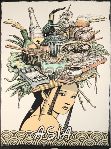 Serie Cinco Continentes: Asia|Obra gráficadeFernando Bellver| Compra arte en Flecha.es
