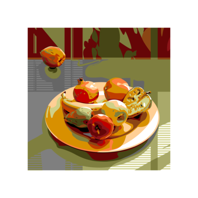 Plato con fruta|DigitaldeBeatriz Ujados| Compra arte en Flecha.es
