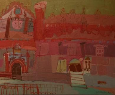 IGLESIA DE LAS CALATRAVAS|PinturadeCarlota Rios| Compra arte en Flecha.es
