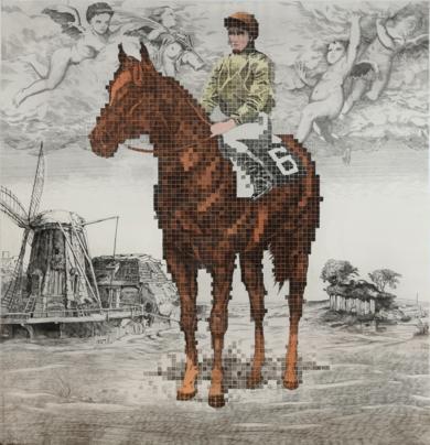Historia de una carrera: Murillo, Rembrant & Cuck Close|Obra gráficadeFernando Bellver| Compra arte en Flecha.es