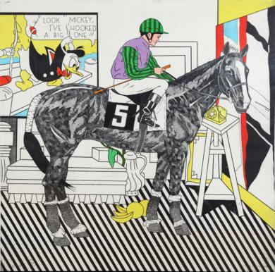 Serie Historia de una Carrera: Lichtenstein|Obra gráficadeFernando Bellver| Compra arte en Flecha.es