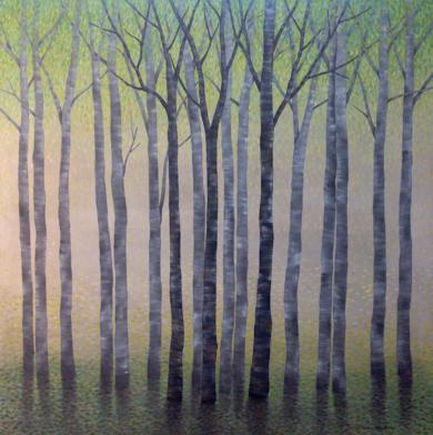 Arboles en primavera|PinturadeCharlotte Adde| Compra arte en Flecha.es