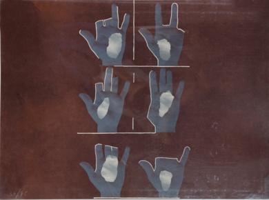 Composición con manos|Obra gráficadeRafael Canogar| Compra arte en Flecha.es