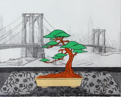 New York dede el Hotel Cumberland|Obra gráficadeFernando Bellver| Compra arte en Flecha.es