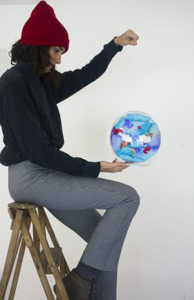Planeta I|EsculturadeVioleta McGuire| Compra arte en Flecha.es