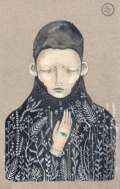 Ponme la mano aquí|DibujodeBran Sólo| Compra arte en Flecha.es