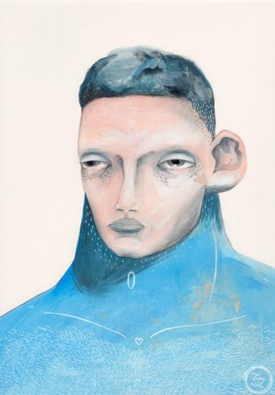 Estudio masculino|DibujodeBran Sólo| Compra arte en Flecha.es