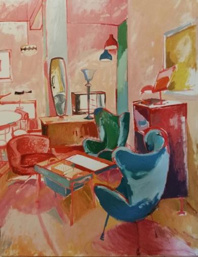 LOS MODERNOS I|PinturadeCarlota Rios| Compra arte en Flecha.es