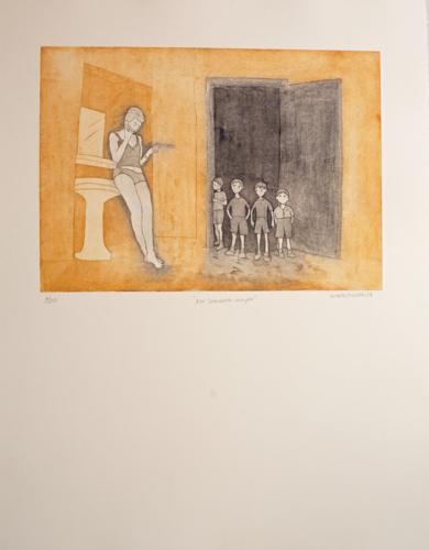 Mi hermana mayor|Obra gráficadeAna Valenciano| Compra arte en Flecha.es