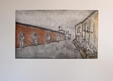 La tapia de los chicos mayores|Obra gráficadeAna Valenciano| Compra arte en Flecha.es