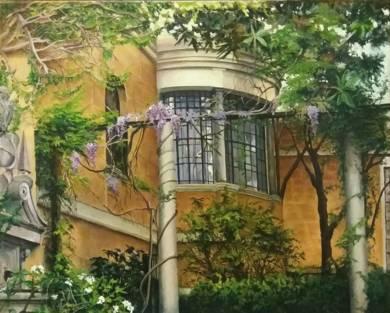 Patio Museo Sorolla|PinturadeCarmen Nieto| Compra arte en Flecha.es