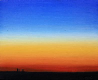 Anochecer|PinturadeBorja Abós| Compra arte en Flecha.es