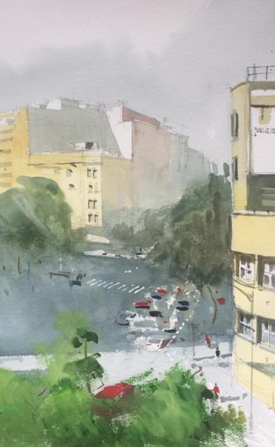 Avenida|PinturadeIñigo Lizarraga| Compra arte en Flecha.es