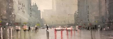 Lluvia|PinturadeIñigo Lizarraga| Compra arte en Flecha.es