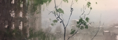 Lluvia y ciudad|PinturadeIñigo Lizarraga| Compra arte en Flecha.es