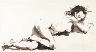Acostada|DibujodeJaelius Aguirre| Compra arte en Flecha.es