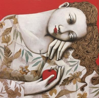 Jardín secreto III|PinturadeMenchu Uroz| Compra arte en Flecha.es