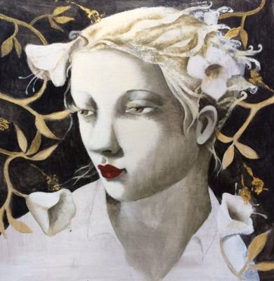 Ella VII|PinturadeMenchu Uroz| Compra arte en Flecha.es