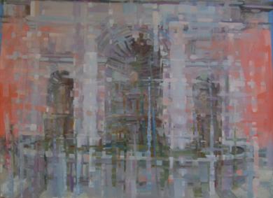 la fuente de Ventura Rodriguez|PinturadeJuan Moreno Moya| Compra arte en Flecha.es