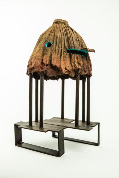CABAÑA TURQUESA|EsculturadeJavier de la Rosa| Compra arte en Flecha.es