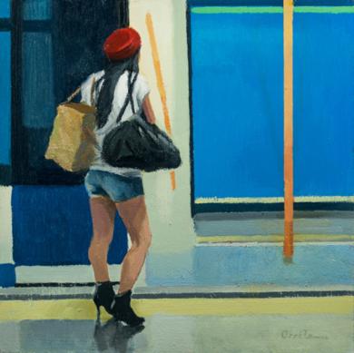Pasajeros al tren|PinturadeOrrite| Compra arte en Flecha.es