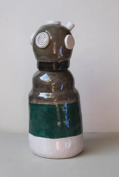 Buzo gris|EsculturadeLina Cofán| Compra arte en Flecha.es