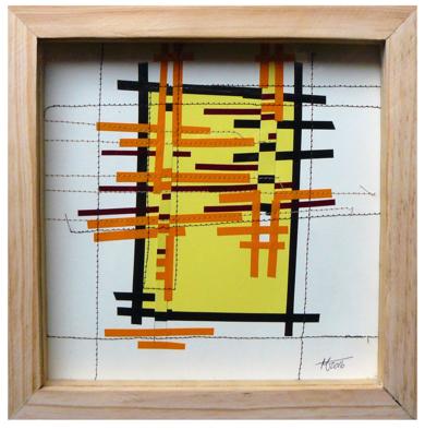 No pixel amarillo|CollagedeFabiana Zapata| Compra arte en Flecha.es