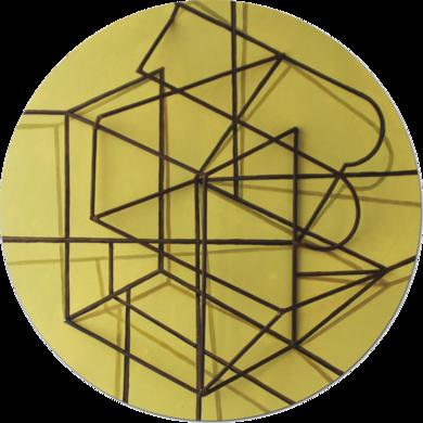 Constelación sobre amarillo|PinturadeManuel Sánchez-Algora| Compra arte en Flecha.es