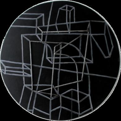 Constelación sobre negro|Escultura de pareddeManuel Sánchez-Algora| Compra arte en Flecha.es