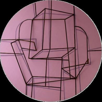 Constelación sobre  rosa|Escultura de pareddeManuel Sánchez-Algora| Compra arte en Flecha.es