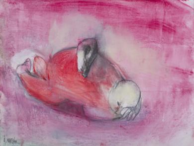 Hombre en el suelo|DibujodeÁlvaro Marzán| Compra arte en Flecha.es