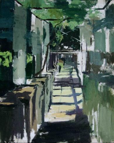 Pérgola de los jardines bajos|PinturadeGonzalo Rodríguez| Compra arte en Flecha.es