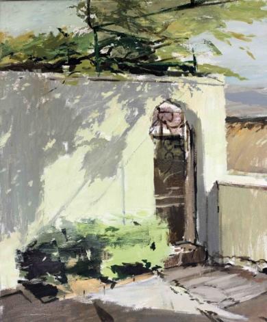 Patio de la Residencia a media tarde|PinturadeGonzalo Rodríguez| Compra arte en Flecha.es