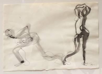 Dos Figuras|DibujodeJaelius Aguirre| Compra arte en Flecha.es