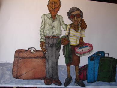 La vuelta del viaje|Dibujodede la Concepción Torreira| Compra arte en Flecha.es