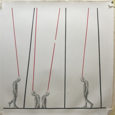 Observando 22|DibujodeSonia Alonso| Compra arte en Flecha.es