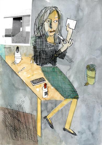 Lipstick|DibujodeEugenio Vega| Compra arte en Flecha.es