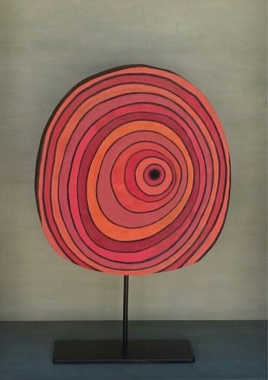 Rojos concéntricos|EsculturadeJohnny Dominguez| Compra arte en Flecha.es