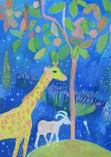 Paseo por el planeta del magnolio|IlustracióndeIria| Compra arte en Flecha.es