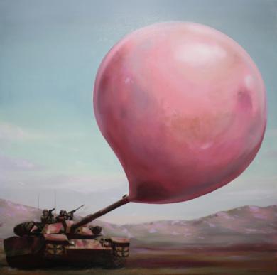 Conflicto bélico a punto de estallar|PinturadeJoseSalguero| Compra arte en Flecha.es