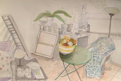 soirée avec mes plants|DibujodeIria| Compra arte en Flecha.es