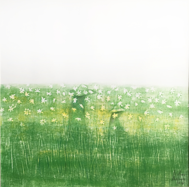 Campos de flores 1|PinturadeMilena Mateva| Compra arte en Flecha.es