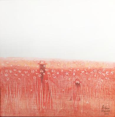 Campos de flores 2|PinturadeMilena Mateva| Compra arte en Flecha.es
