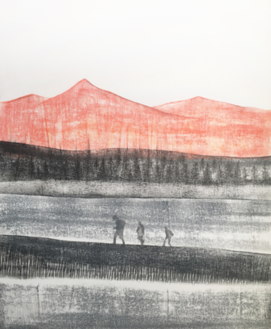 Puesta del sol|PinturadeMilena Mateva| Compra arte en Flecha.es