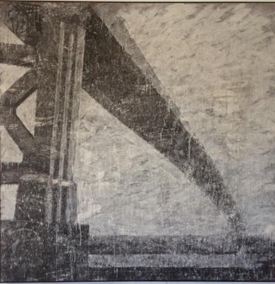 Puente , Serie paisaje. PinturadeAlvaro Sellés  Compra arte en Flecha.es